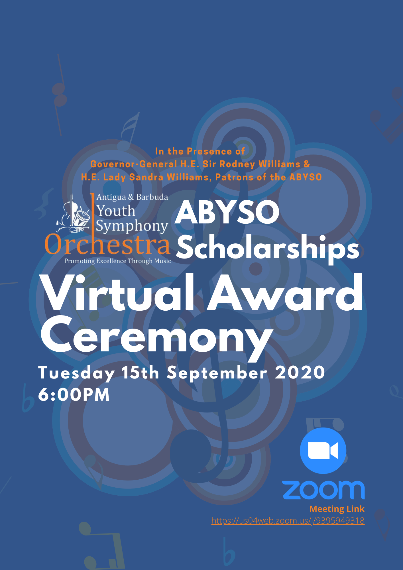 ABYSO Scholarship Awards 2020 Flyer